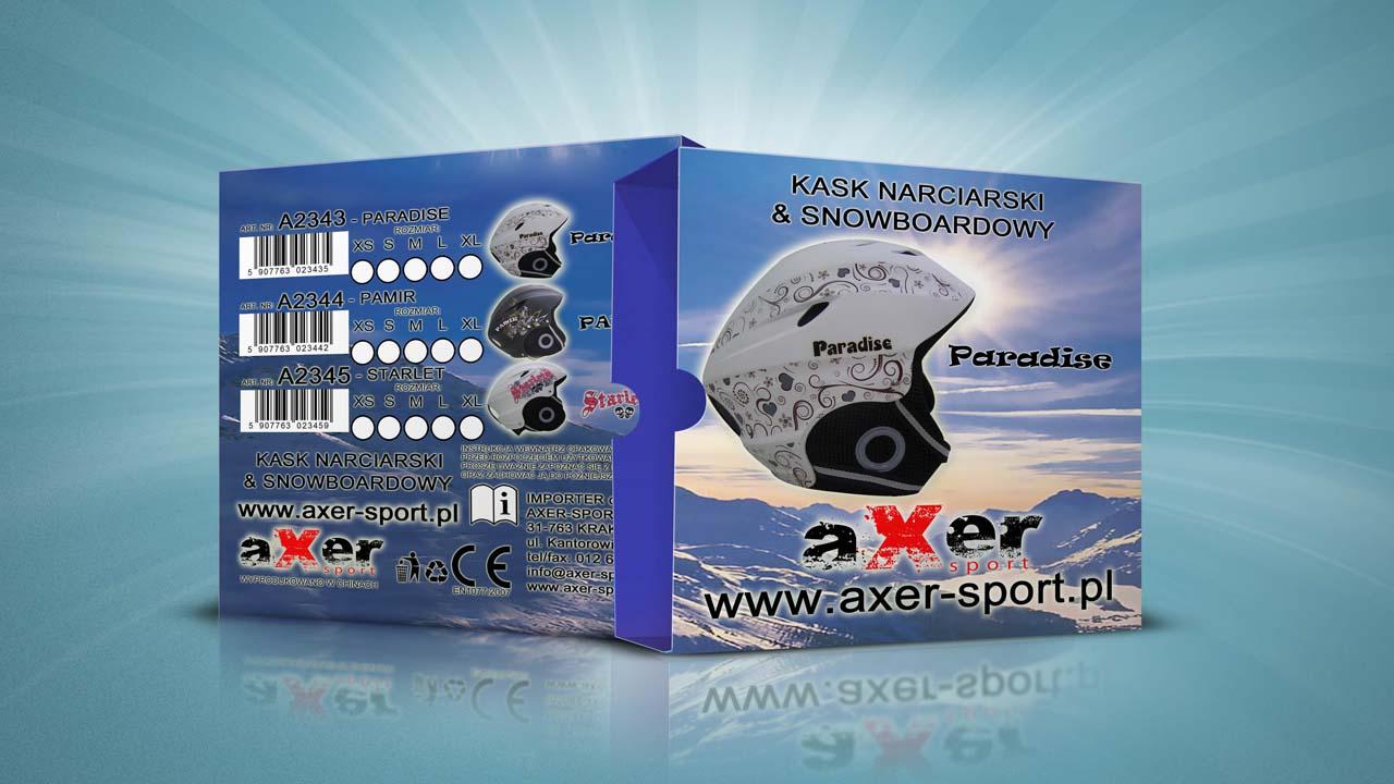 KRAK-GRAF portfolio AXER-SPORT pudło na kask narciarski 1