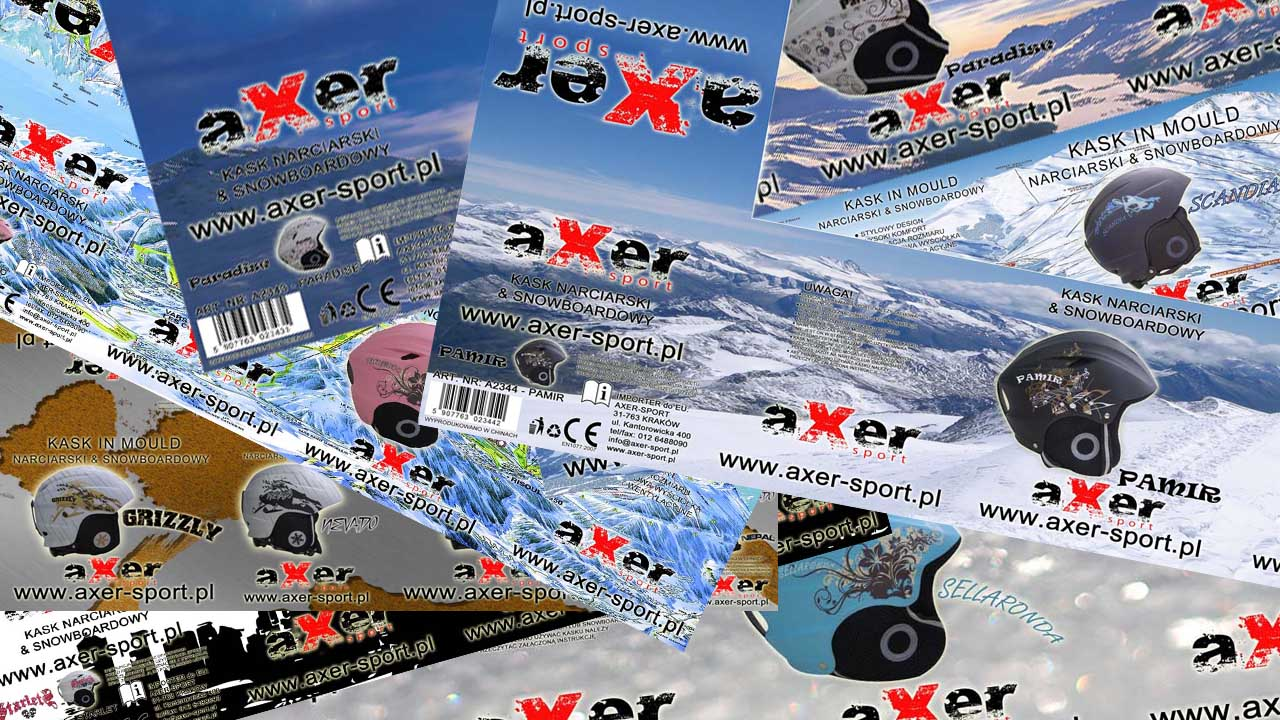 KRAK-GRAF portfolio AXER-SPORT pudła na kaski narciarskie 1