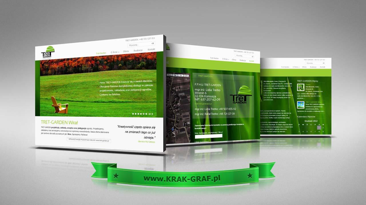 KRAK-GRAF portfolio TRET-GARDEN strona internetowa 1
