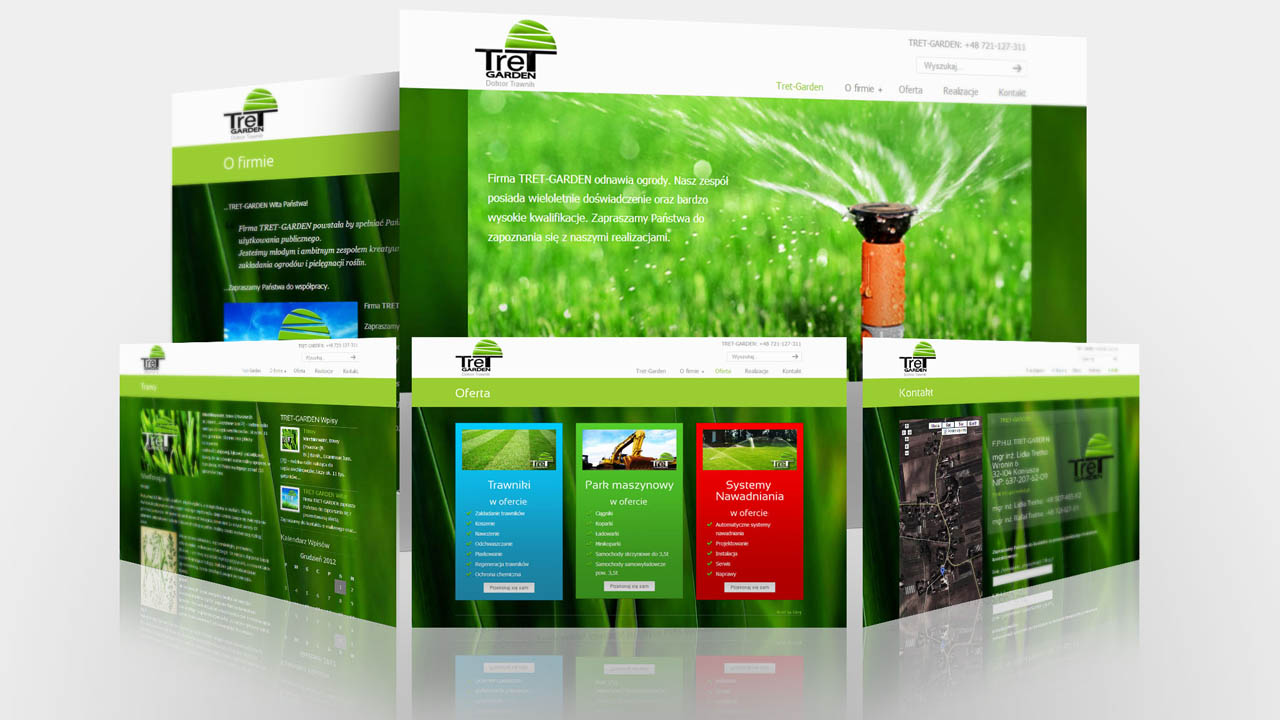 KRAK-GRAF portfolio TRET-GARDEN strona internetowa 2