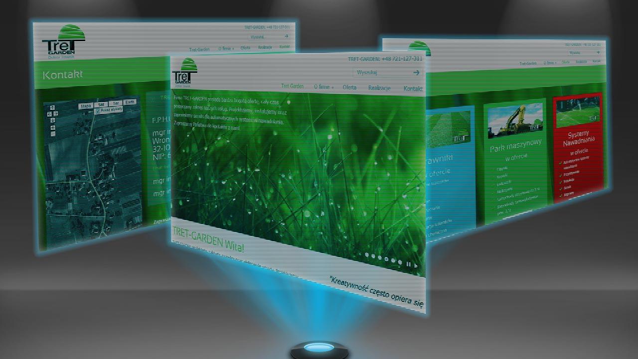 KRAK-GRAF portfolio TRET-GARDEN strona internetowa 3