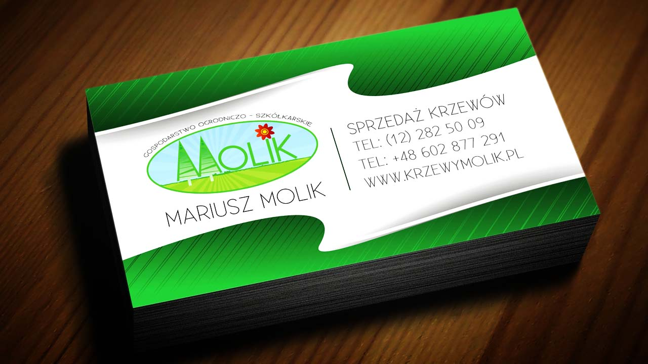 KRAK-GRAF portfolio KRZEWY MOLIK wizytówka 1