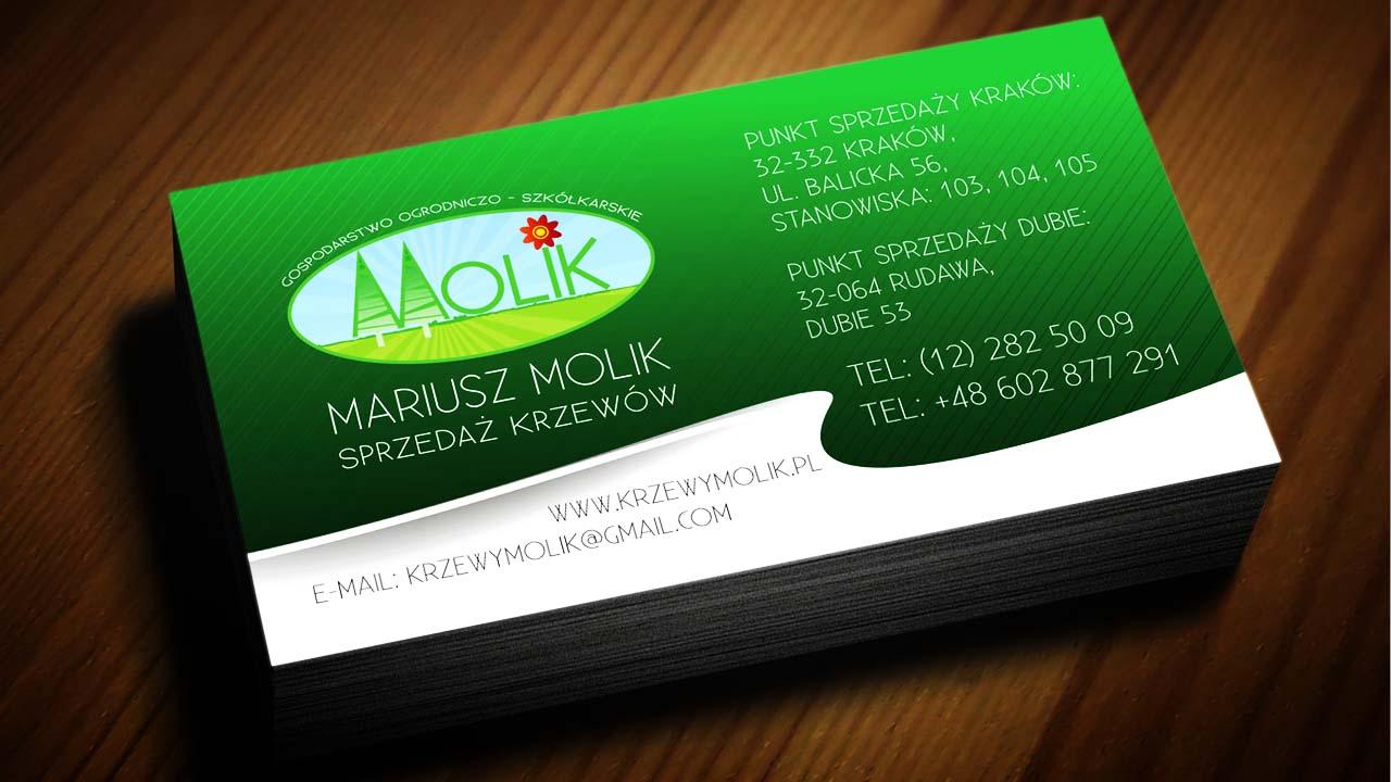 KRAK-GRAF portfolio KRZEWY MOLIK wizytówka 2