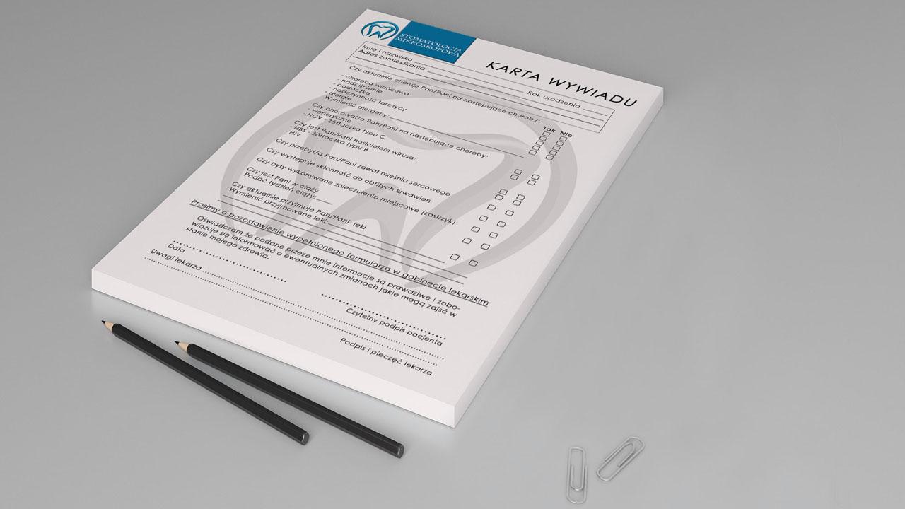 KRAK-GRAF portfolio STOMATOLOGIA MIKROSKOPOWA papeteria 1