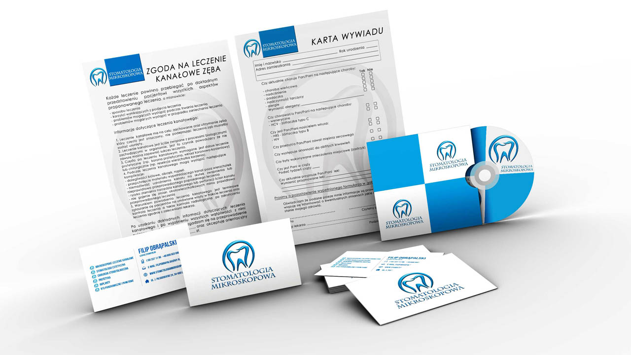 KRAK-GRAF portfolio STOMATOLOGIA MIKROSKOPOWA branding 2