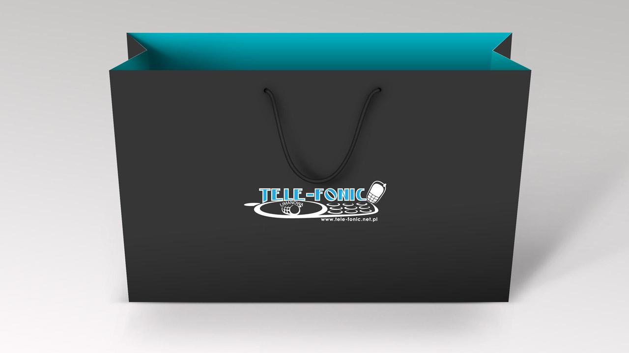 KRAK-GRAF portfolio TELE-FONIC torba papierowa 1