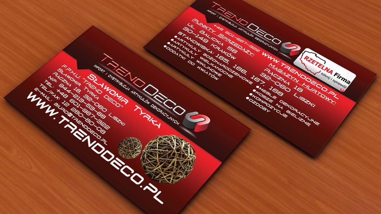 KRAK-GRAF portfolio TRENDDECO wizytówka 1