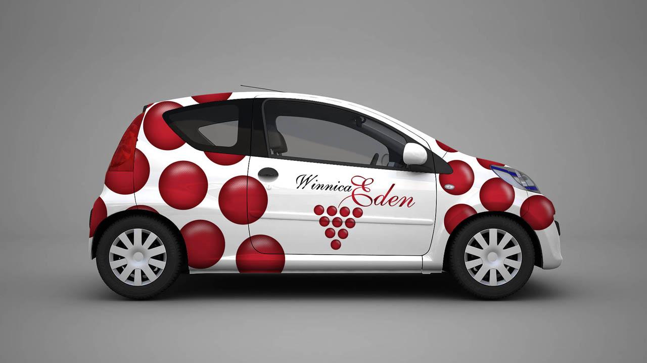 KRAK-GRAF portfolio WINNICA EDEN reklama na samochód