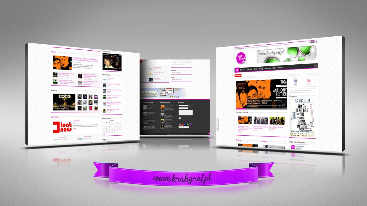 KRAK-GRAF portfolio EventMANIAK.pl strona www 1