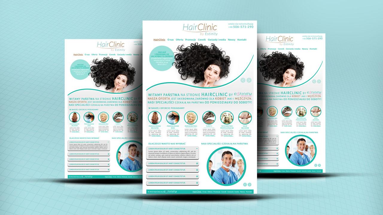 KRAK-GRAF portfolio HairCLINIC layout strony internetowej 2