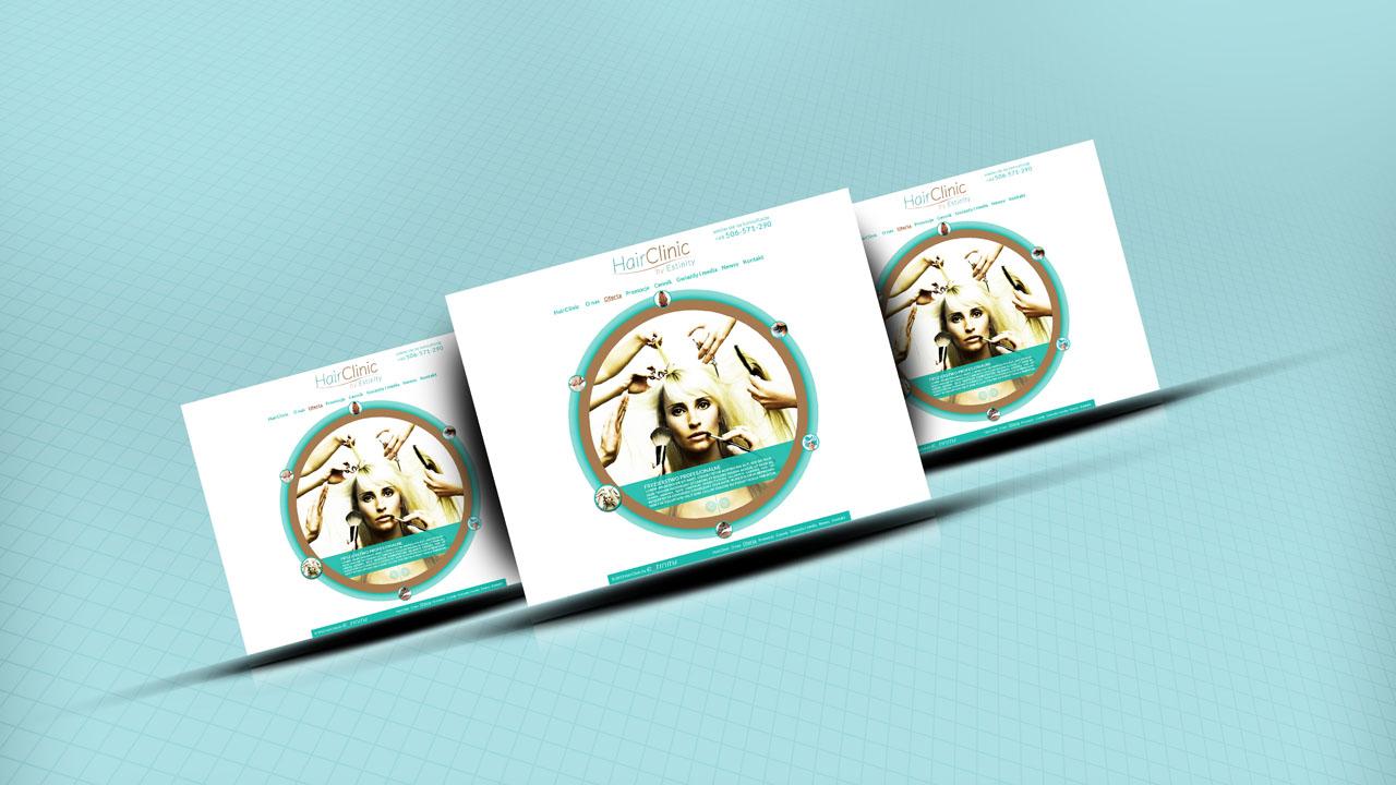 KRAK-GRAF portfolio HairCLINIC layout strony internetowej 3